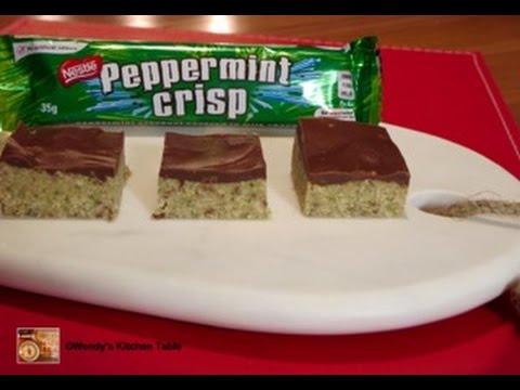 Peppermint Crisp Slice