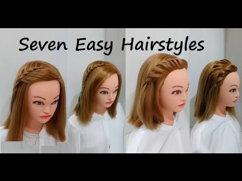 7 Attractive Looks for Short Hair : Easy Hairstyles
