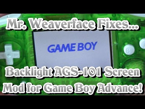 Game Boy Advance Backlight Screen Mod AGS-101 | DIY How to Install | Complete & Updated for 2018
