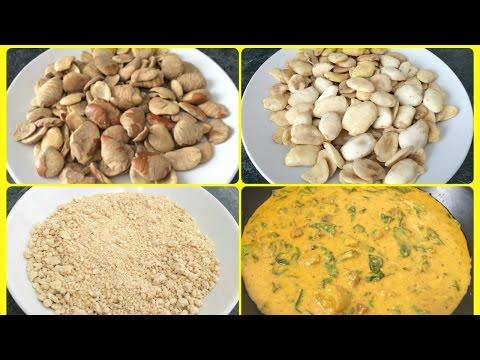 How to Blend Ogbono Seeds | Nigerian Ogbono Soup | Bush Mango Seeds | Yummieliciouz Food Recipes