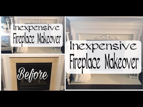 BUDGET FRIENDLY FIREPLACE MAKEOVER | FIREPLACE REFRESH | HOW TO UPDATE DATED TILES