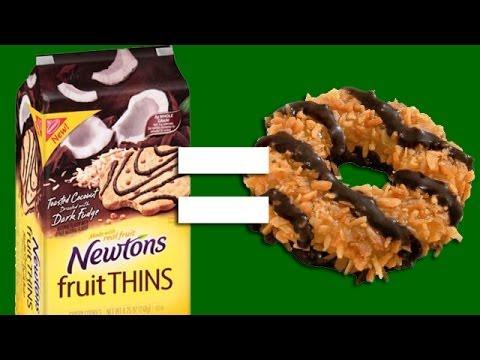 Healthier Caramel Delites Girl Scout Cookies?