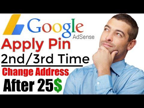 Apply Adsense Pin 2nd-3rd Time or Change Address After 25$ Tutorial in Urdu/Hindi