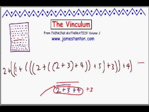 The Vinculum (Tanton Mathematics)
