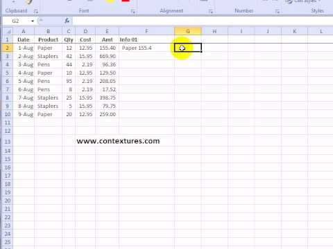 Combine Cell Data in Excel Without Concatenate