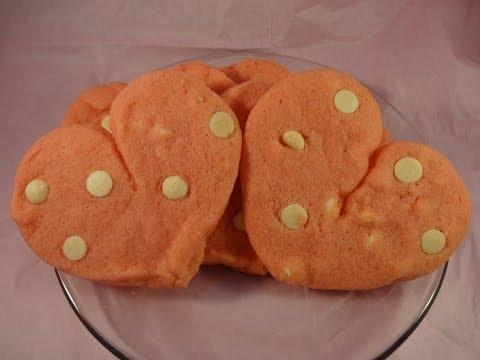 Cherry Jello White Chocolate Pudding Cookies -with yoyomax12