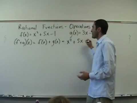 Algebra 2 - Operations on Functions (f o g)(x)