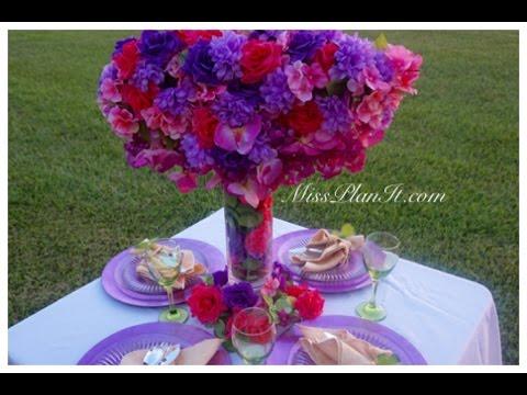 DIY:Tutorial Floral Dream Centerpiece for Under $40!