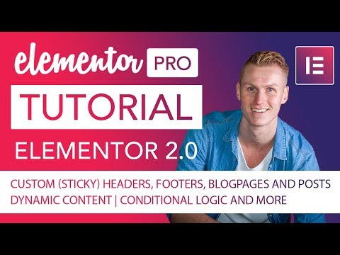 Elementor Pro 2.0 | Complete Tutorial