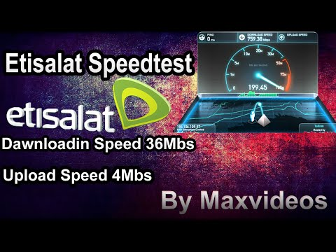 How To Check You Etisalat Speed Test in UAE HD Video 2017