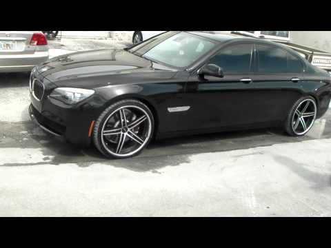 DUBSandTIRES 22 Inch Lorenzo WL 197 Black Concave Rims 2011 BMW 7 Series