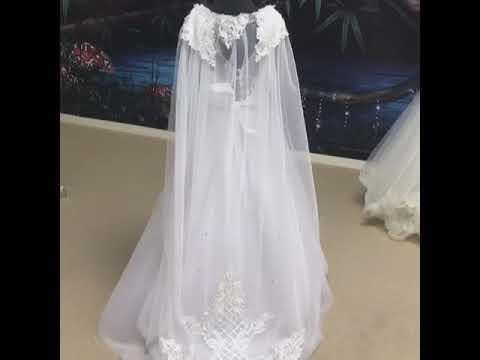 """""""Elsa"""" Communion Dress With Detachable Cape"""