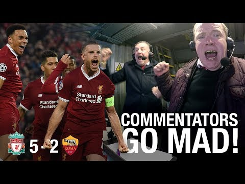 LFC commentators go mad in the gantry... | Incredible Anfield atmosphere