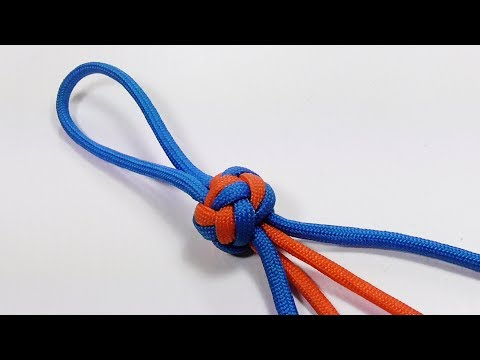 Paracord Tutorial: Double Diamond Knot With Four Strands Out