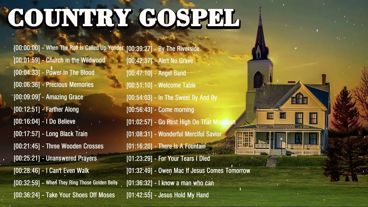 Old Country Gospel Songs Of All Time - Inspirational Country Gospel Music - Beautiful Gospel Hymn