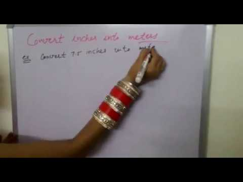 Convert inches into meter in Hindi