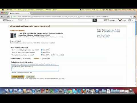 how to leave or remove a feedback on amazon