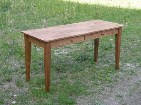 Rustic Butternut Desk with Drawers
