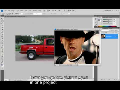 open multiple pictures into photoshop cs4(beginners)