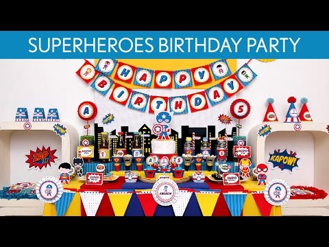 Amazing Superheroes Birthday Party Ideas // Amazing Superheroes - B107