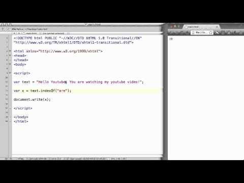 JavaScript - 36. String methods: indexOf()