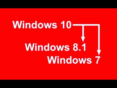 How to downgrade Windows 10 to Windows7/8.1