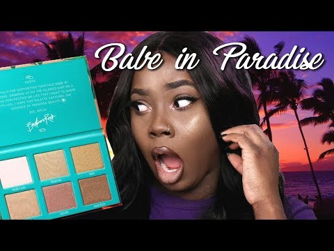 Babe in Paradise Review | Bretman Rock Highlighter Palette Review