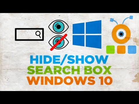 How to Hide or Show the Search Box in Windows 10
