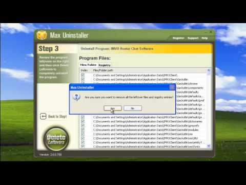 How to uninstall IMVU with Max Uninstaller