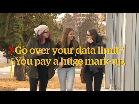 Cellphone data plans: The cost of Rogers, Telus and Bell (CBC Marketplace)