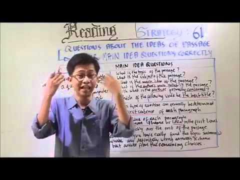 Tips Reading TOEFL oleh Mr Maula