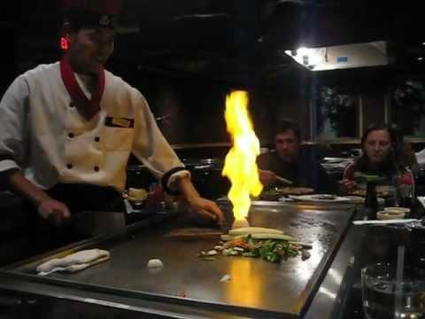 Hibachi - Fireman Pees on Onion Volcano