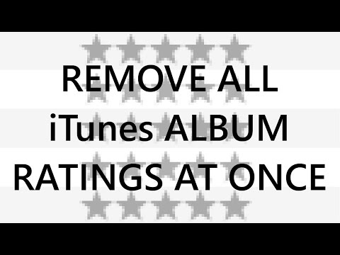 Batch Remove all iTunes (Windows) Album Ratings / grey stars at once