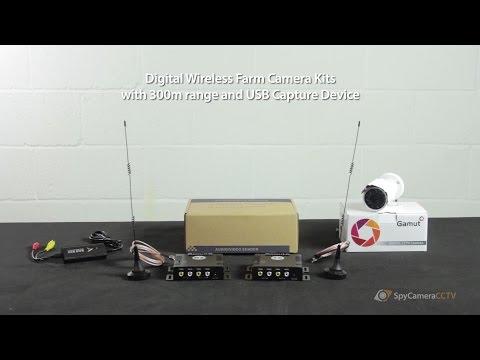 Digital Wireless Farm Security Camera Long Range Kit