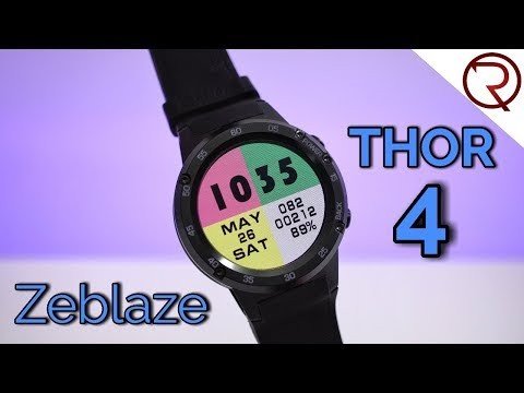 Zeblaze Thor 4 Smartwatch Review - GPS, 4G, Android 7.0