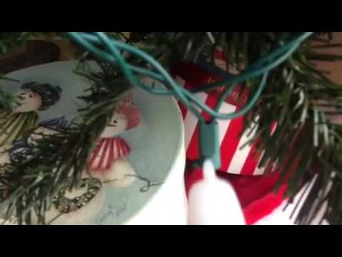 Fixing or repairing LED Christmas lights with a voltage tester.