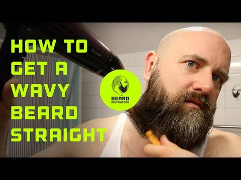How to get a wavy beard straight | Beard Instructor