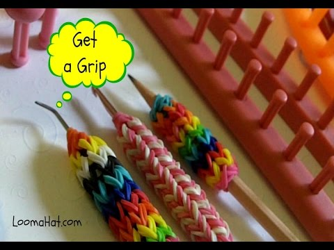 LOOM KNIT Hook Cover Grip for Knitting Crochet Tool Pencil | Loomahat