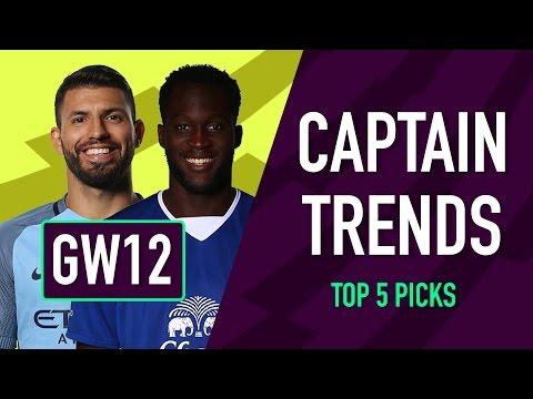 Captaincy Trends | Gameweek 12 | Fantasy Premier League 2016/17
