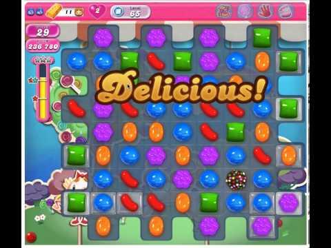 Candy Crush Saga Level 65 - 3 Stars No Boosters