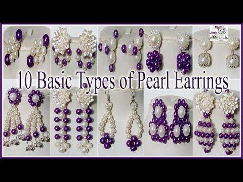 #171 TEN (10) Unique Pearl Earrings By DiyArtiePie   Jewellery Making   Earrings for Party Wear