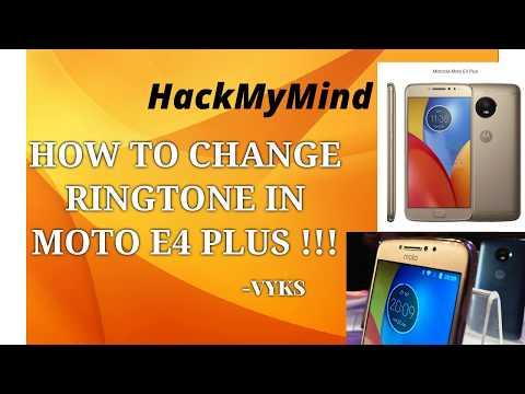 How to Change Ringtone in MOTO G5s Plus, E4 Plus, G5 Plus & other MOTO phones ||| HackMyMind