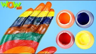 Learn Color with Hand Painting | Finger Family Nursery Rhymes for Kids | Wow Kidz