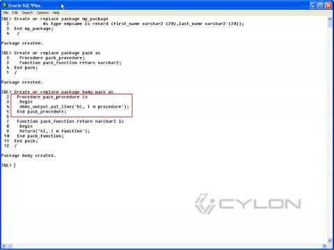 Package In PLSQL
