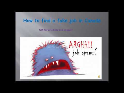 Fake job offer in canada