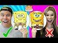 PANCAKE ART CHALLENGE Learn How To Make Spongebob Emoji DIY Pancake