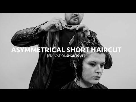 Asymmetrical Textured Short Haircut Tutorial - Education Shortcut #001