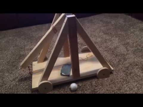 Simple Trebuchet How To: Sling and Release