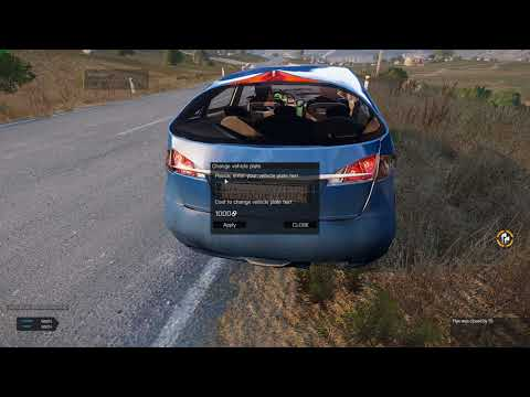 Exile Change vehicle plate ArmA 3 1.82