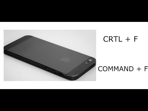 Iphone [command + F], [ctrl + F] : How to use the